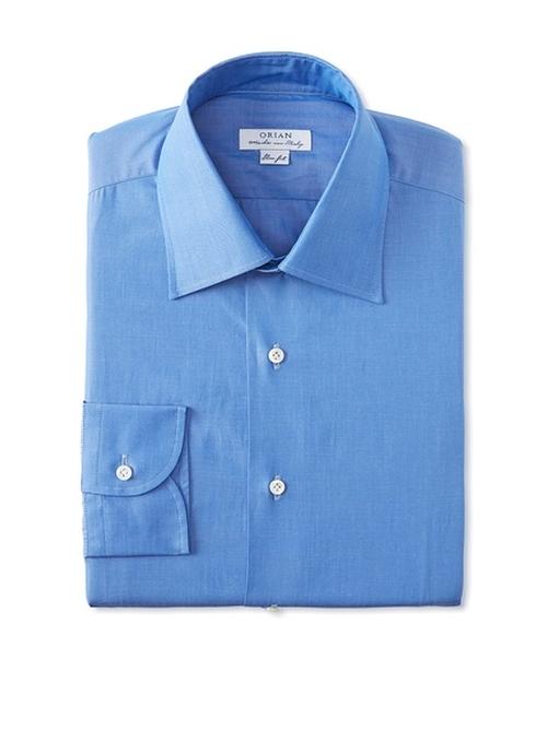 Slim Fit Solid Poplin Dress Shirt by Orian in Spotlight