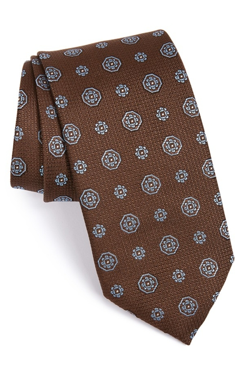 Medallion Silk Tie by Canali in How To Get Away With Murder