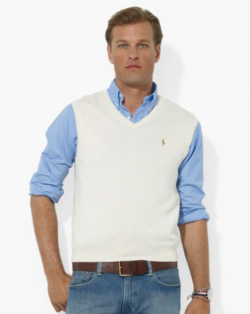 Pima Cotton V-Neck Vest by Ralph Lauren in The Age of Adaline