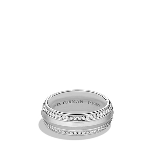 Band Ring With Diamonds In Platinum by David Yurman in Trainwreck
