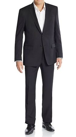 Regular-Fit Solid Wool Suit by Versace Collection  in Modern Family