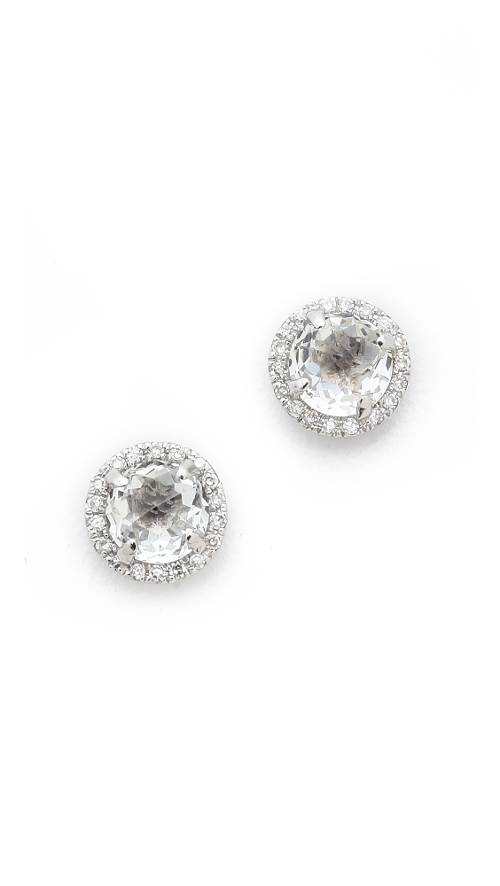 Diamond White Topaz Stud Earrings by EF Collection in Silver Linings Playbook