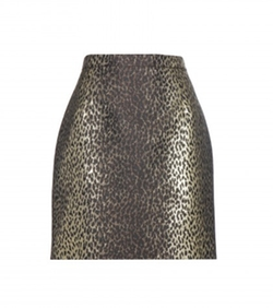 Metallic Jacquard Skirt by Saint Laurent in Scream Queens