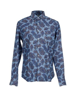Printed Shirt by Xacus in Black-ish