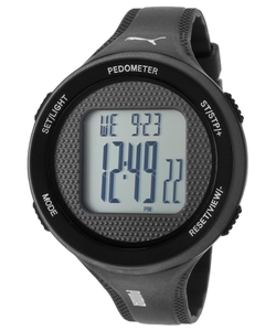 Black Plastic Digital Dial Watch by Puma in The Big Bang Theory
