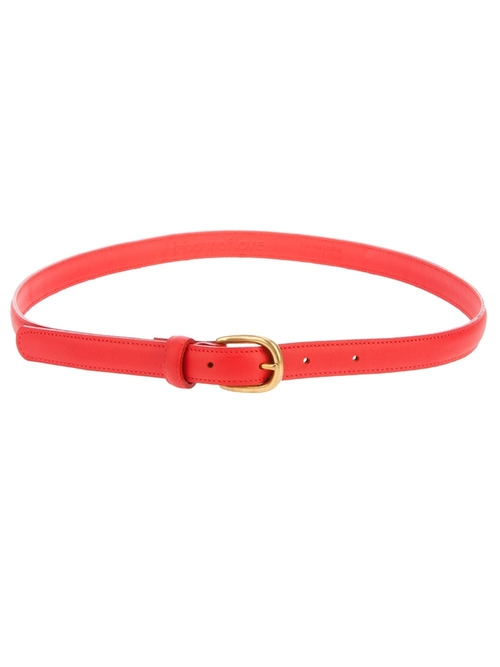 leather skinny belt by LABOUR OF LOVE in Blended