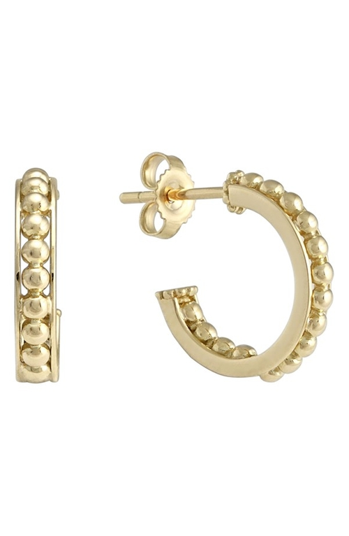 Caviar Small Hoop Earrings by Lagos in Ballers