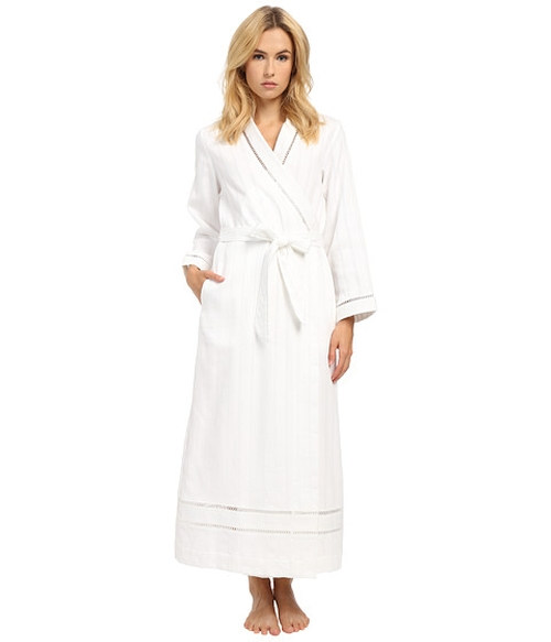 Cotton Stripe Waffle Long Robe by Oscar De La Renta in Keeping Up With The Kardashians - Season 12 Preview