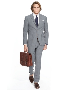 Polo Grey Fresco Suit by Ralph Lauren in Hitman: Agent 47