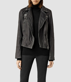Cargo Leather Biker Jacket by All Saints in Brooklyn Nine-Nine