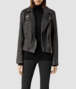 Cargo Leather Biker Jacket by All Saints in Brooklyn Nine-Nine