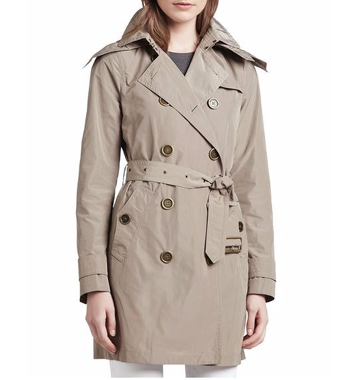 Removable Hood Balmoral Trenchcoat by Burberry Brit in Pretty Little Liars - Season 7 Episode 10