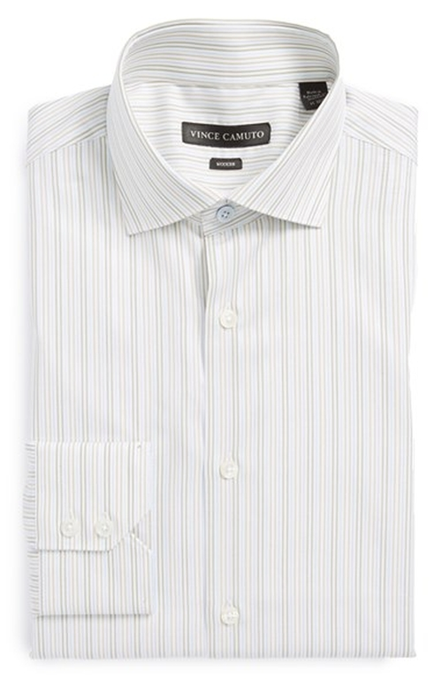 Modern Fit Stripe Dress Shirt by Vince Camuto in The Hundred-Foot Journey