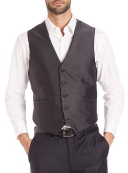 Pindot Five-Button Vest by Carrot & Gibbs in Jason Bourne