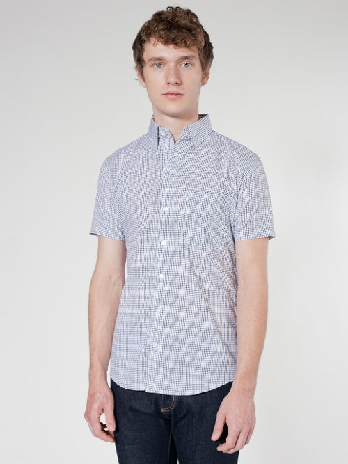 Plaid Button-Down Shirt by American Apparel in Hall Pass