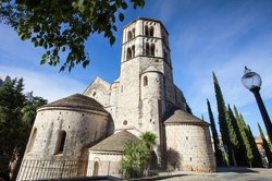 Girona, Spain by Monastery of Sant Pere de Galligants (Depicted as Braavos) in Game of Thrones