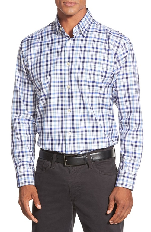 'Anderson' Classic Fit Plaid Sport Shirt by Robert Talbott in Scandal - Season 5 Episode 1