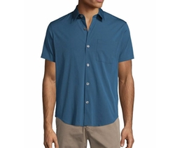 Rammis S. Ostend Short-Sleeve Woven Shirt by Theory in Ballers