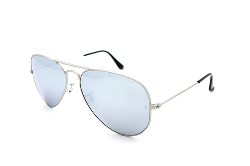 3025 Aviator Mirror Sunglasses by Ray-Ban in Knight and Day