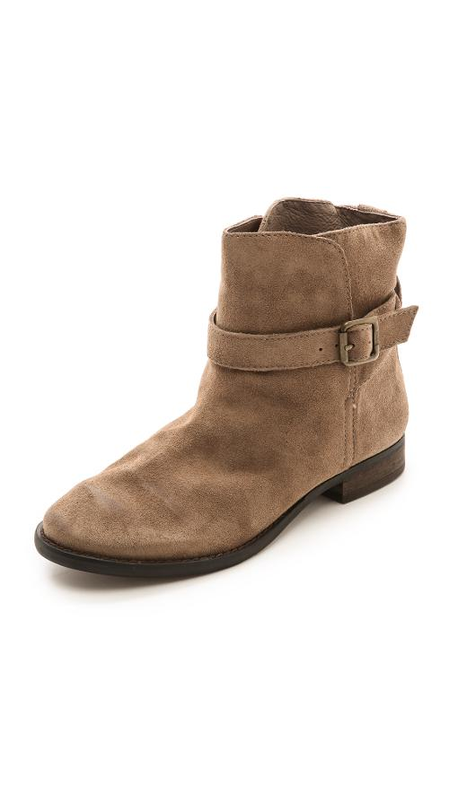 Malone Distressed Suede Booties by Sam Edelman in Interstellar