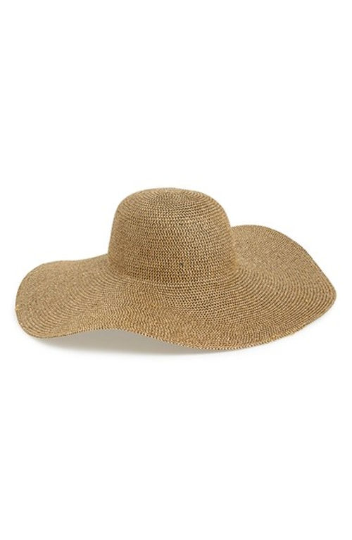 Tildon Metallic Floppy Straw Hat by Phase 3 in Sex and the City