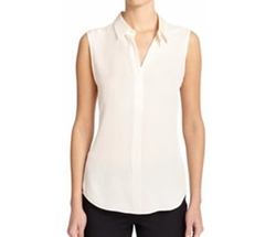 Tanelis Modern Silk Sleeveless Blouse by Theory in Gilmore Girls: A Year in the Life