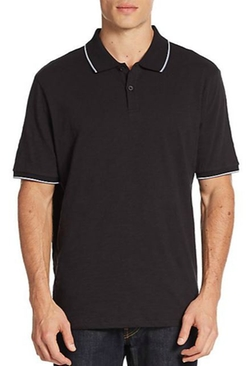 Contrast-Trim Cotton Polo Shirt by Saks Fifth Avenue in Modern Family