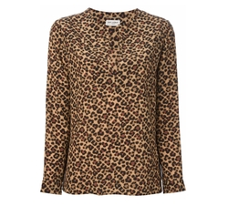 Leopard Print Blouse by Saint Laurent   in Pretty Little Liars