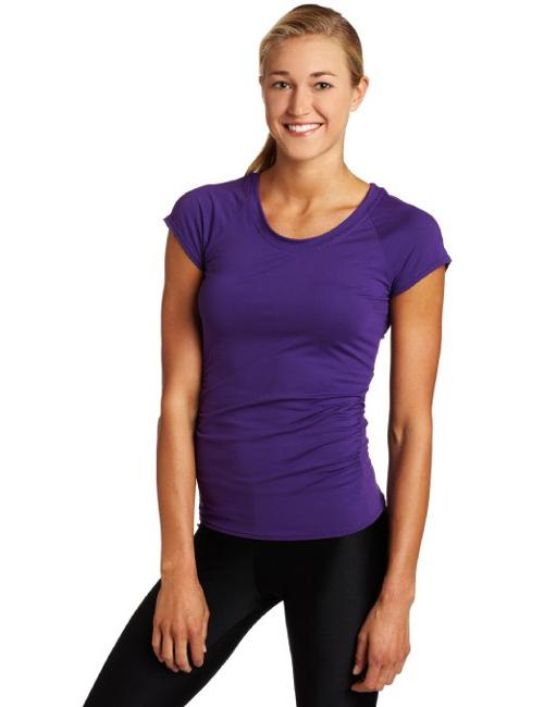 Women's U-Crew Neck Athletic Shirt by Snow Angel in Ride Along