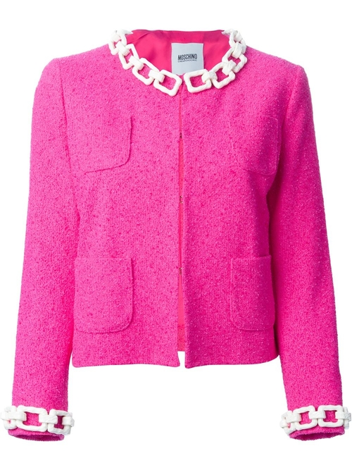 Chain Trim Bouclé Jacket by Moschino Cheap & Chic in The Mindy Project - Season 4 Episode 12