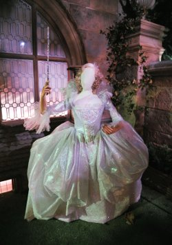 Custom Made Ice-Blue Wide Ruff Gown (Fairy Godmother) by Sandy Powell (Costume Designer) in Cinderella