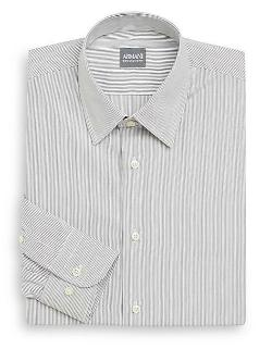 Regular-Fit Hairline Striped Dress Shirt by Armani Collezioni in Lee Daniels' The Butler