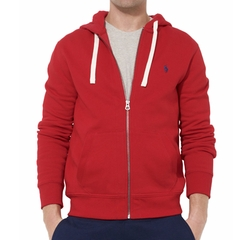 Full-Zip Fleece Hoodie Jacket by Polo Ralph Lauren in Modern Family