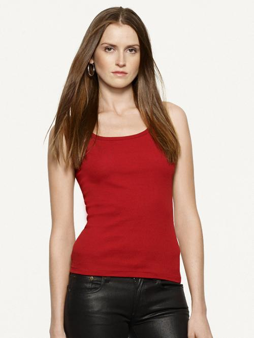 Cotton Teaser Tank by Ralph Lauren Black Label in What If