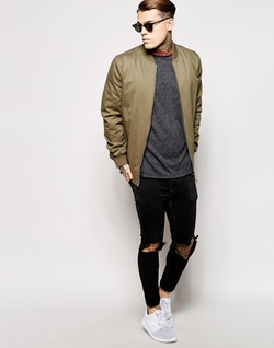 Longline Bomber Jacket by Asos in Master of None