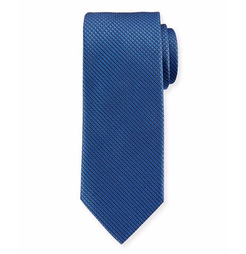 Micro-Neat Woven Silk Tie by Brioni in Ballers - Season 2 Episode 8