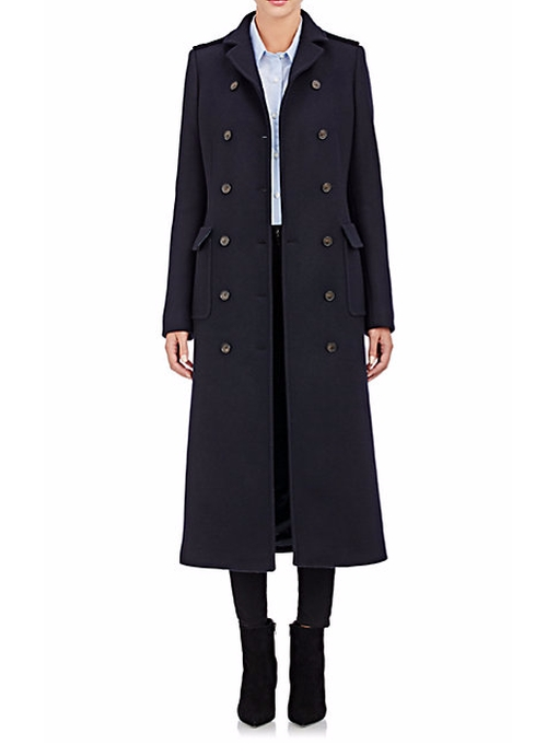 Military Long Coat by Barneys New York in Keeping Up With The Kardashians - Season 12 Episode 1