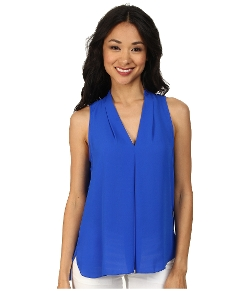 Sleeveless V-Neck Blouse by Vince Camuto in The Second Best Exotic Marigold Hotel