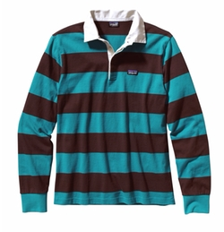 Tobago Blue Sender Rugby Shirt by Patagonia in Silicon Valley