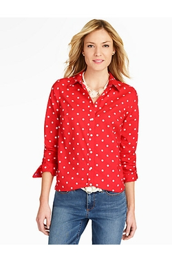 Polka-Dot Shirt by Talbots in New Girl