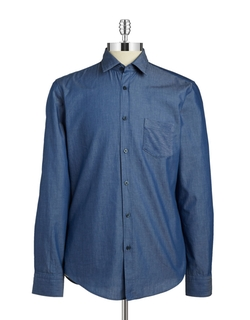 Ronni Chambray Sportshirt by Hugo Boss in New Girl
