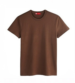 Pure Brown Cotton Shirt by Annstyle in The Choice