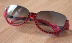 Rhinestone Sunglasses by Alain Mikli in Empire