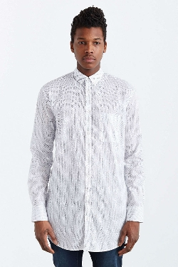 Eight Foot Dobby Button-Down Shirt by Zanerobe in The Overnight