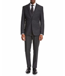 Micro-Nailhead Three-Piece Suit by Boss in Designated Survivor