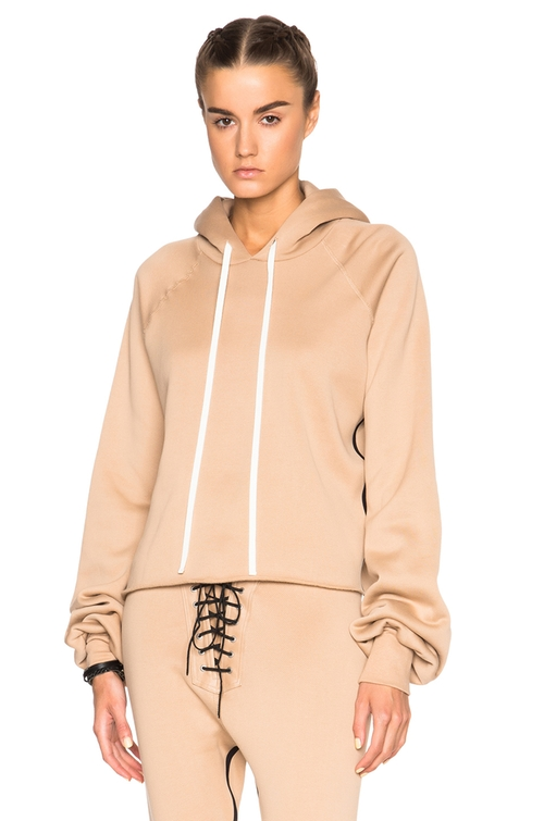 Oversized Sleeve Cashmere Hoodie by Unravel in Keeping Up With The Kardashians - Season 12 Episode 6