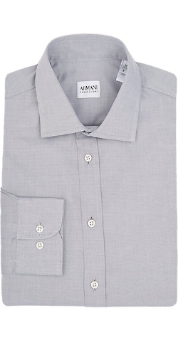 Textured Dress Shirt by Armani Collezioni in Southpaw