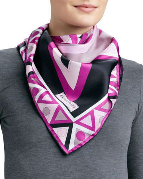 Mikonos Silk Scarf by Emilio Pucci	 in The Other Woman