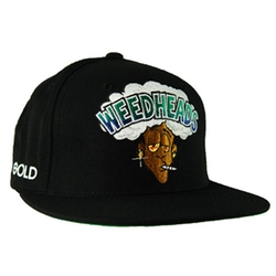 Weedheads Snapback Hat by Gold Wheels in Spring Breakers