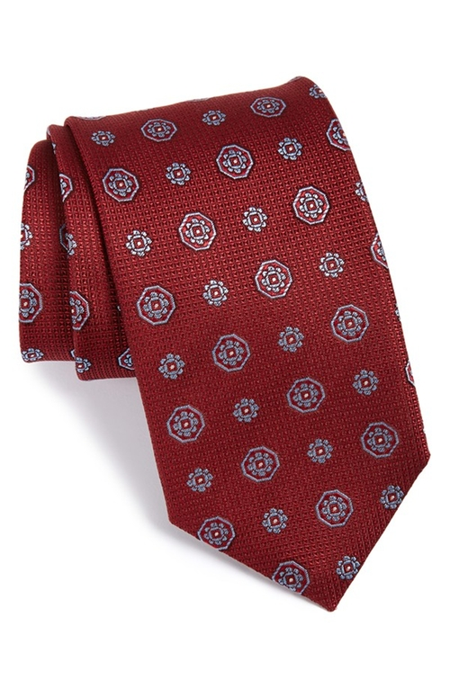 Medallion Silk Tie by Canali in Scandal - Season 5 Episode 6